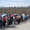 Versailles - this was the queue for Museum Pass and ticket holders for entry to the Chateau.  The waiting time for entry on that day was 1 - 1.5 hours on average.