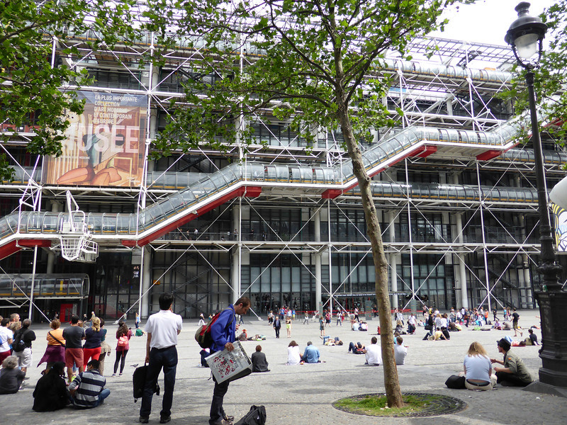 The Georges Pompidou Centre, which features modern art displayed in a very unique building.