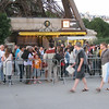 Eiffel Tower - This is part of the large queue waiting to buy tickets for the Tower.  Even though it's about 21:30, there is still a large number of people waiting.