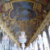 Versailles - this is part of the Hall of Mirrors (shot at a high angle to show some of the mirrors as well as the ceiling and chandeliers.