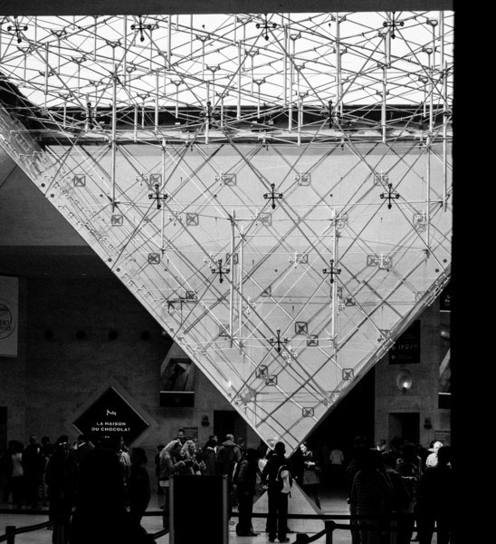 I M Pei inverted pyramid