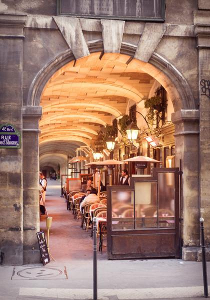 Parisian Cafe on Place de Vosges