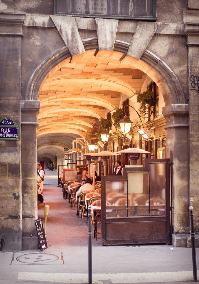 Parisian Cafe on Place de Vosges