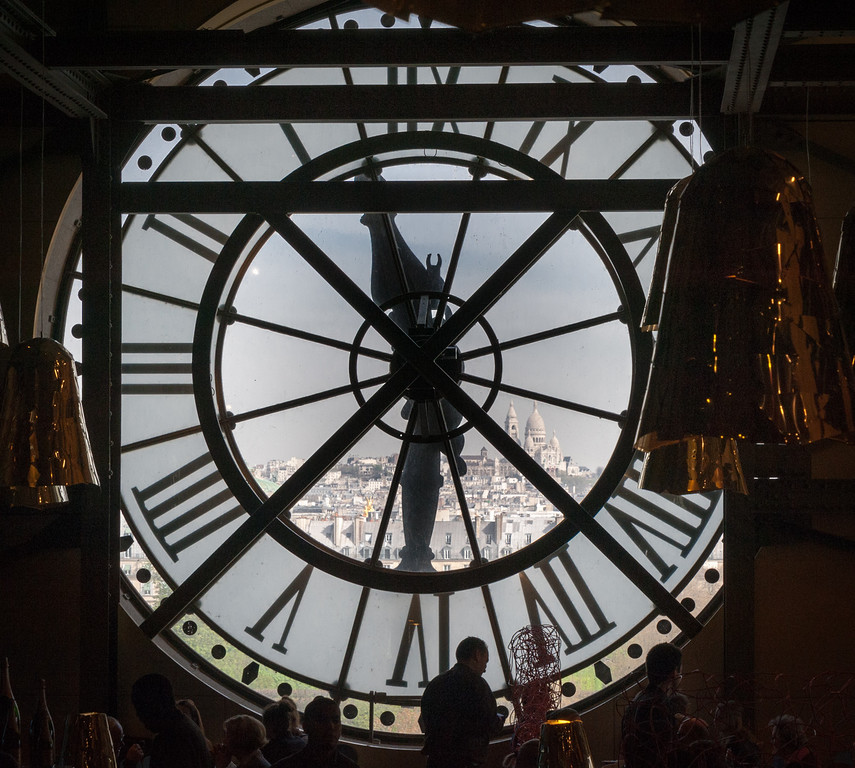 View from the clocks in Musee d'Orsay