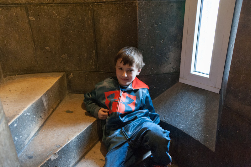 Quick rest on the way up to the top of Sacre Coeur