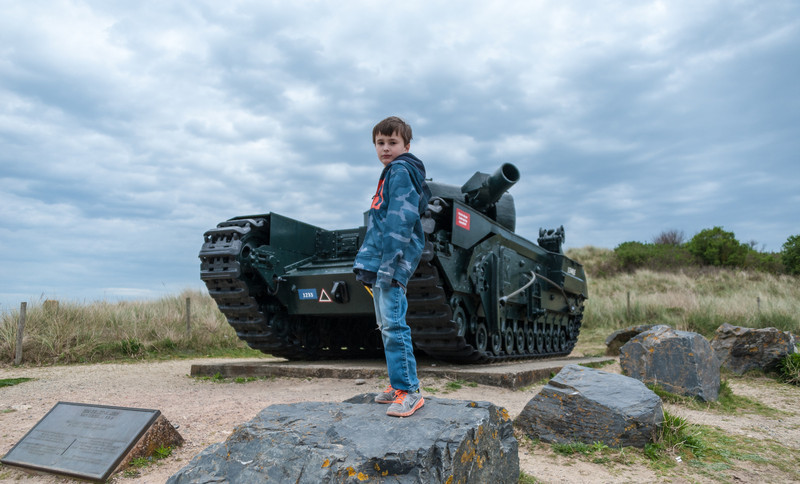 In Front of a Churchill Tank