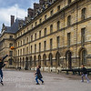 Kids playing At Invalides Napoleans Tomb