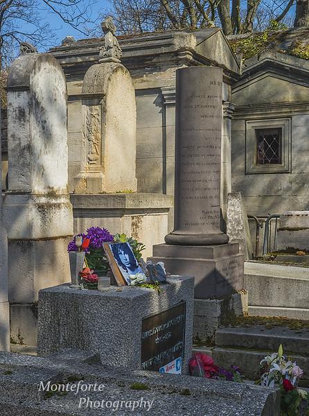 Paris France April 2016  Jim Morrison's grave