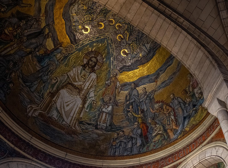 Mosaic ceiling, Sacre Couer