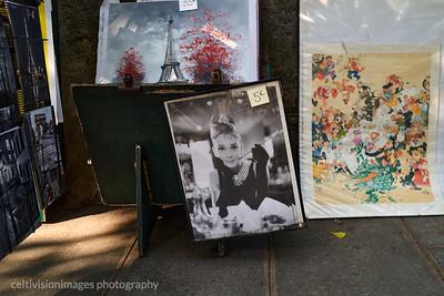 2018_Paris_Audrey, book stall on the Seine