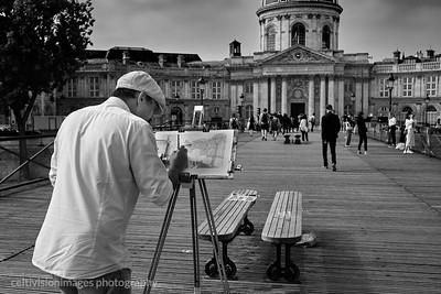 2018_Paris_Artist on the Pont des Artist
