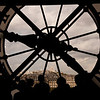 View of Montmartre through the clock in the Musee d'Orsay.