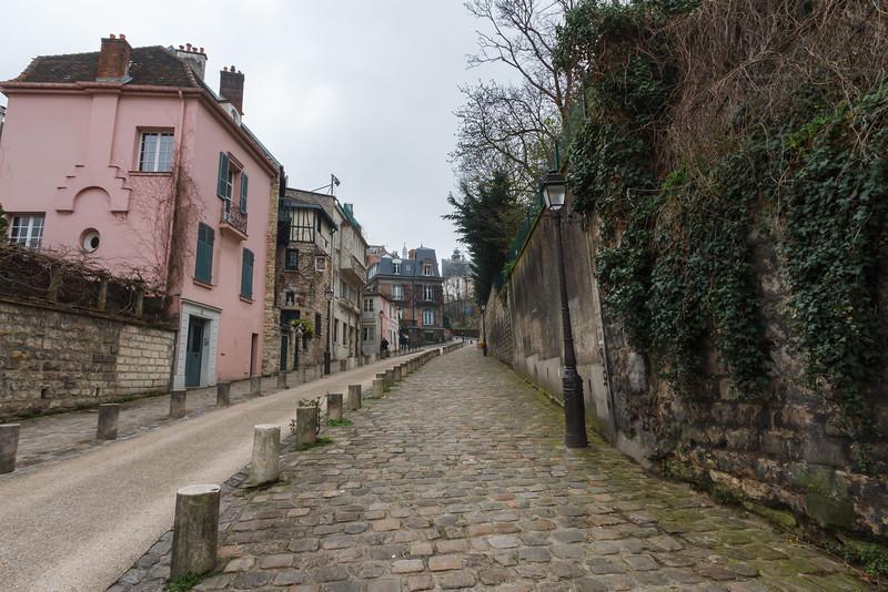 Eine Straße am Montmartre