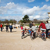 Fahrrad Touristengruppe im Jardin des Tuileries