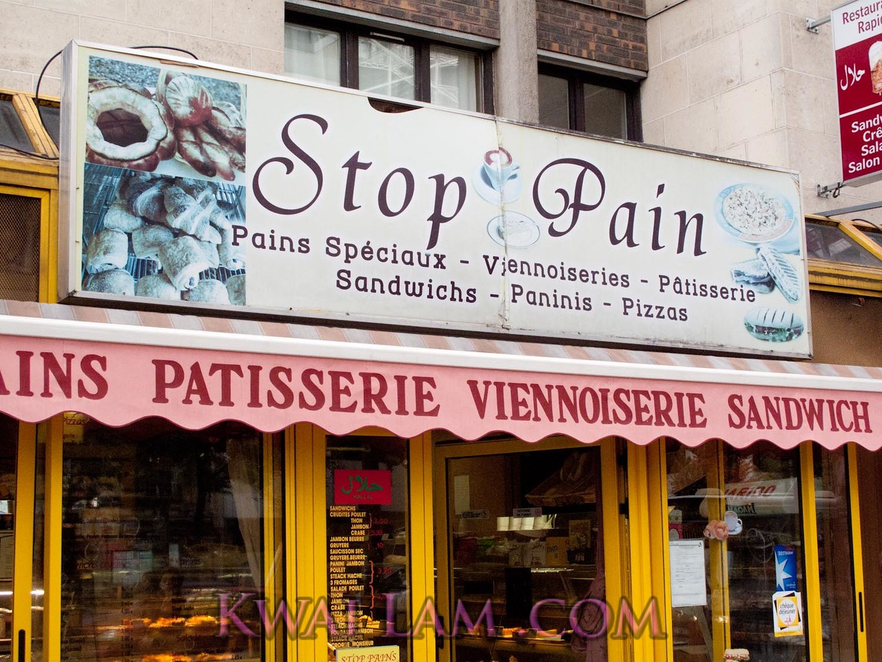 Stop Pain, it doesn't hurt to eat bread, does it? For Pulakli. Rue, d'Italie, Paris