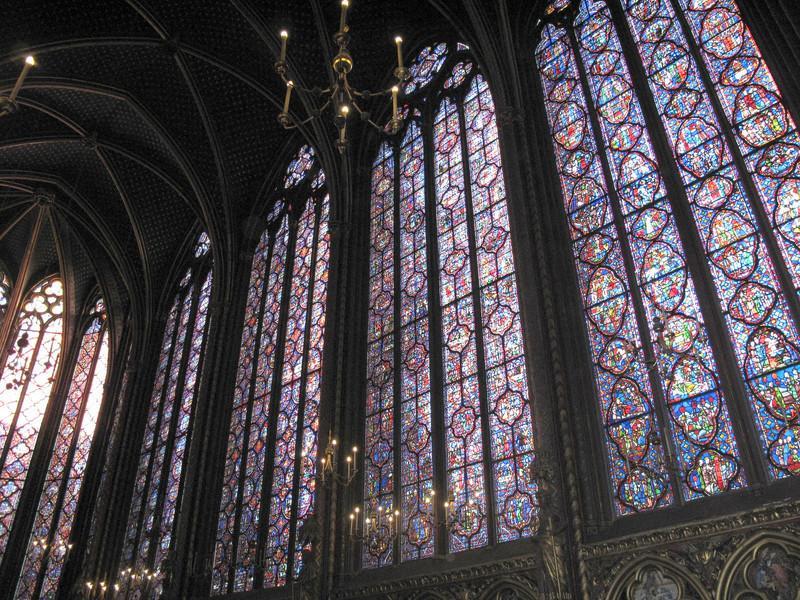 Inside Sainte-Chapelle, upper chapel