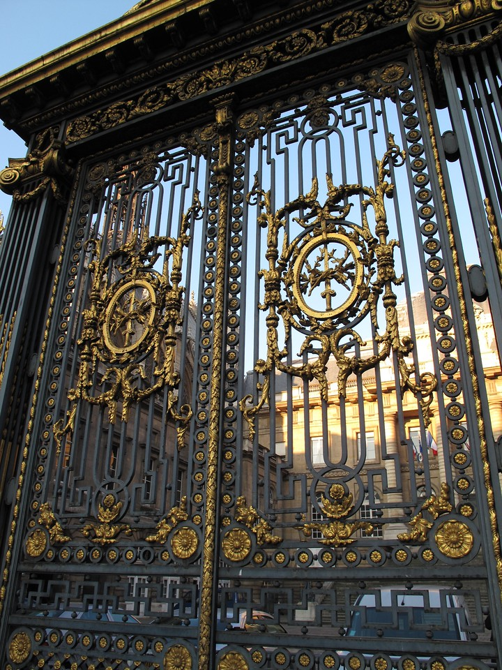 Outside the gate of the Palais  de Justice