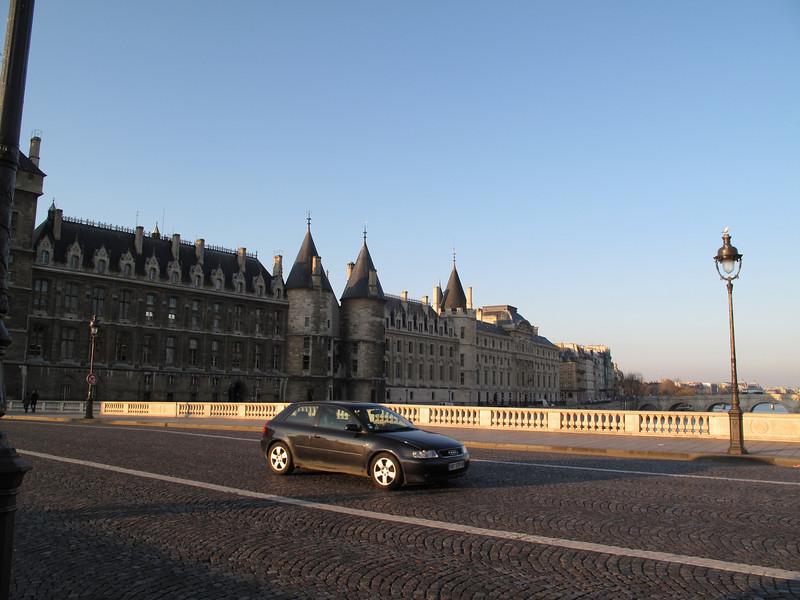 Crossing the Pont au Change with Conciergerie