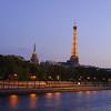 Dusk along the Seine, Paris