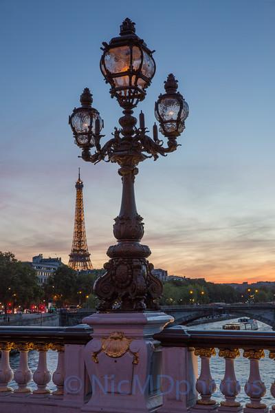 Sunset on Pont Alex II Bridge