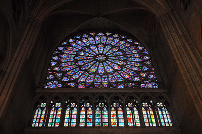 Stain glass in Notre Dame, Paris, France
