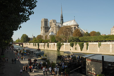 Notre Dame, Paris, France seen from across the river