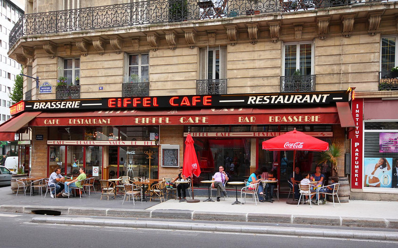 Street dining is an option at practically every restaurant in Paris.