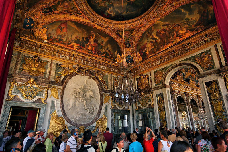 The War Drawing room was bigger and a little more ornate than most of the rooms at the Palace, if that is possible.