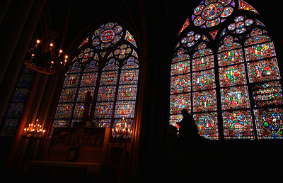 More stained glass from Notre Dame, this time at the prayer room.