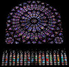 This famous rose window in Notre Dame was completed around 1260 A.D. but amazingly it contains nearly all of the original stained glass panels. The biggest threat came not from wars but during a period in history when lavish church art was frowned upon and many European treasures like this were ceremoniously destroyed and replaced by simple designs. Lucky for us, this one survived that movement and all the other unrest from the last 750 years.