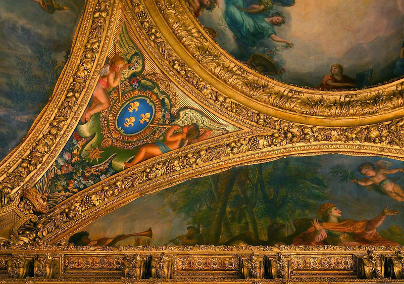 Another close up of the Versailles ceiling art.