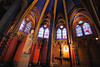Lower Chapel of Saint Chappelle Cathedral, home of arguably the most elaborate stained glass display in Europe.