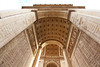 The 160 ft. high Arc de Triomphe has much information carved into it that does not show easily from a distance. Most of the information is names of generals and battles from the past.