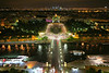 """Looking northwest from the Eiffel Tower. The """"City of Lights"""" lives up to its billing on a clear night. In the top center is the Trocadero and the curved Palais De Chaillot, home of the French Naval Museum and other museums."""