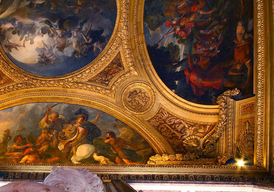 Palace at Versailles ceiling detail in the Venus Drawing Room. To get a feel of the scale here, this section is approximately 15 feet by 10 feet.