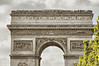 You can see by the size of the people on top of the Arc de Triomphe that it's a big monument.