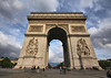 A monument to French military, the Arc de Triomphe is a world class landmark. The 12 lane traffic circle around it has no lane markers and traffic flow is a complete hoot to watch.