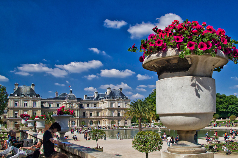 Luxembourg Palace, home of French Senat, Luxembourg Gardens, Paris, France
