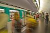 Metro arrival, Paris, France