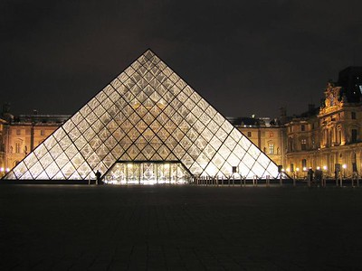 Love the pyramid, just not here in front of the rest of The Louvre.