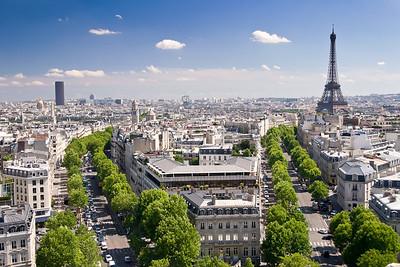 View from Arc de Triomphe, Paris, France, 2004