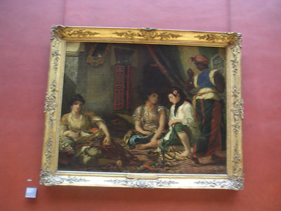 MINOLTA  Bad pic but interesting subject matter.  This painting hangs in the Louvre and it is three women laying around smoking a hookah.