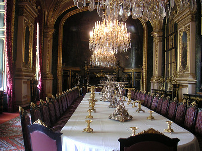 Louey's dining room in the Louvre.