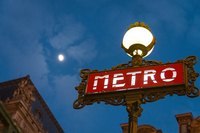 Metro Paris and the Moon