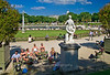 Sunbathers, Luxembourg Gardens, Paris, France