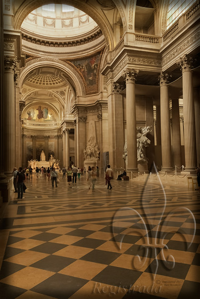 Pantheon   Foucault proved Earth's rotation here with his pendulum suspended from the ceiling.