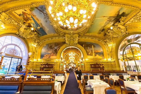 Restaurant Le Train Bleu, Paris, France, 2018