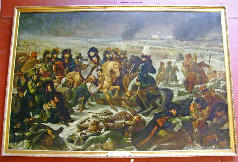 A painting of Napoleon in battle.  One of thousands of paintings in the Louvre.