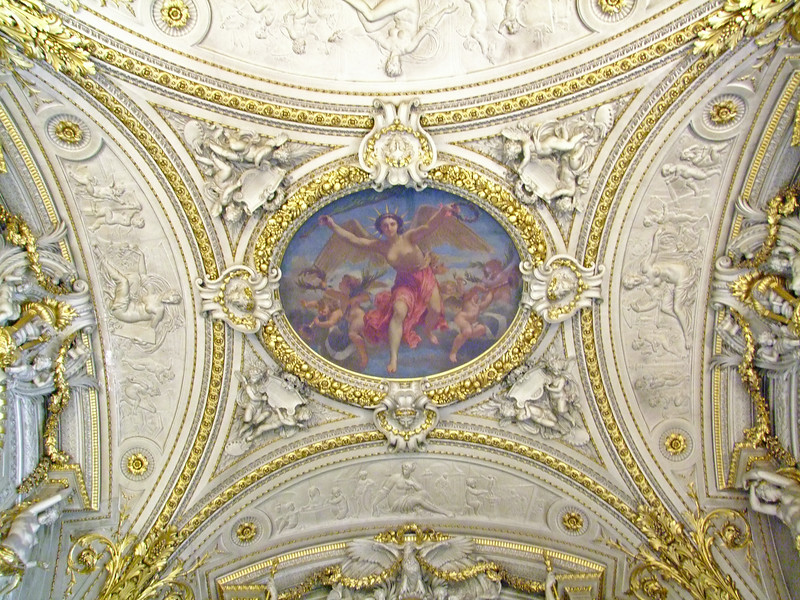 A ceiling within the Napoleon Apartment.