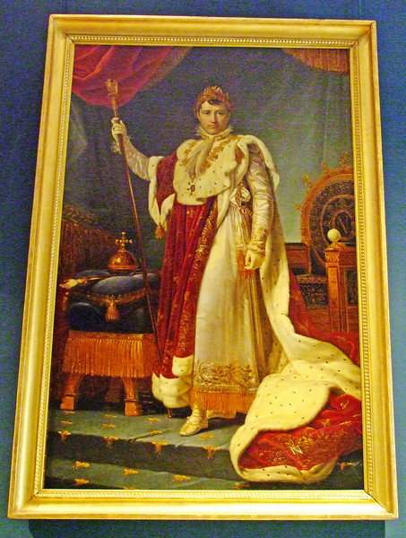 A painting of Emperor Napoleon.